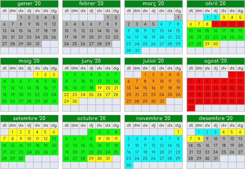 calendrier offres saison 2020